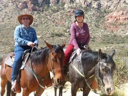 myself and wife on our horses , Stephen B - May 2014