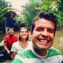 Mekong Delta with our fantastic tour leader Long Huynh , Nuno C - December 2014