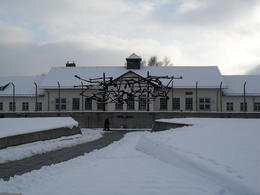 Main building and square at Dachau , Jeffrey R - December 2010