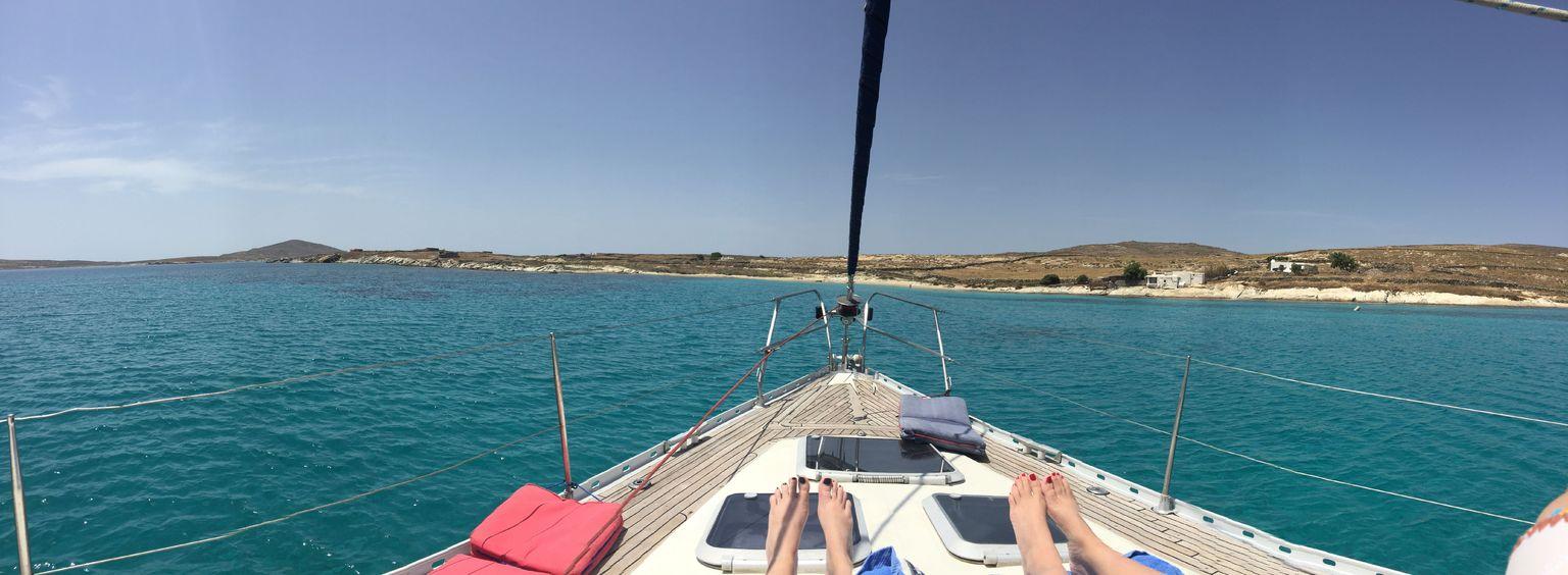 MÁS FOTOS, Miconos: crucero en yate para grupos pequeños a Rhenia y visita guiada a la isla de Delos