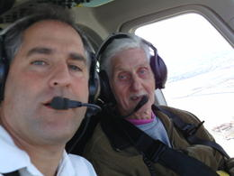 the pilot and me flying over statue of liberty , enid h - May 2011