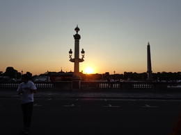Great day, wonderful seeing the sunset over Paris , dizzledorf - August 2012