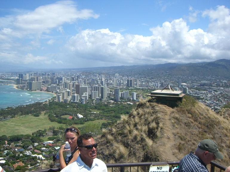 The top of Diamond Head Crater - Oahu
