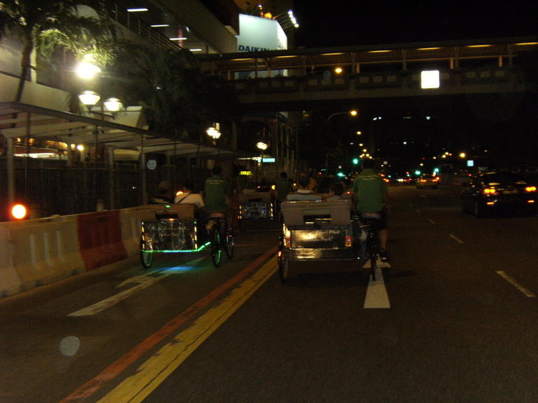 Trixshaw ride through the major roads of Singapore. - Singapore