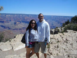 Anthony & I enjoying the views.., World Traveler - June 2011