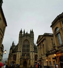 Bath Abbey right in front and Roman Bath House to the Right , Cynthia S - January 2017