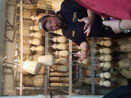 Benedetto showing us the room where they age their provolone , Shannonlsummers - March 2017
