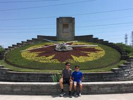 Floral Clock near hydro-plant , Deborah O - June 2017