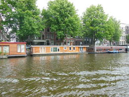 house boats on canal in Amsterdam , Michael L - June 2012
