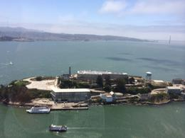 View of Alcatraz from above, taylor - June 2014