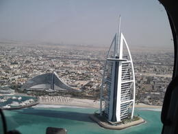View from the helicopter tour ride: Burj Al Arab and Jumeirah Beach hotel , Michaela D - November 2014