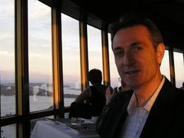 Dusk from the Sydney Tower Restaurant , Melinda - November 2012