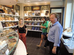 Godiva, tour guide and us , Yuval H - June 2012