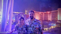 My son and I took this picture while on the High Roller. It is a very cool experience in which you will talk to cool people and have great picture opportunities for approximately 30 minutes. I..., JesterPSU99 - June 2016