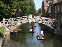 This is the Mathematical Bridge at Cambridge University. , Jessica - July 2011