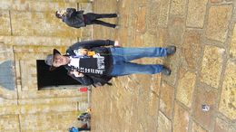 Having a ball on top of Mont Saint Michel, great views over the countryside and water. , Marty L - May 2015