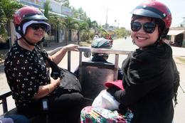 adventure taxi Mekong style with mommy and sister , Lawrence Allen T - February 2013