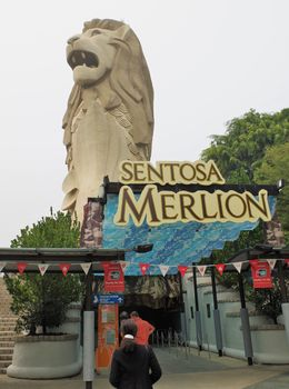 We took the elevator up the Sentosa Merlion for a view of Sentosa and Singapore. , Bill604 - November 2015