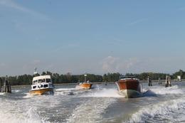 Our viator boat leads the rush from the airport to Venice , Jacqueline M - October 2013