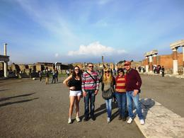 This was our tour group in early December pictured in front of the famous Pompeii ruins at the commencement of the tour. , Aubrie H - January 2013