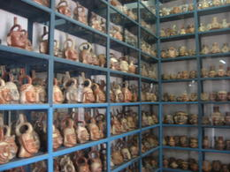 Inside the warehouse of the Larco Museum. Thousands of artifacts on display., Bandit - June 2012