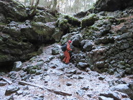Our Guide on the path to the cave , AmbaE - December 2017