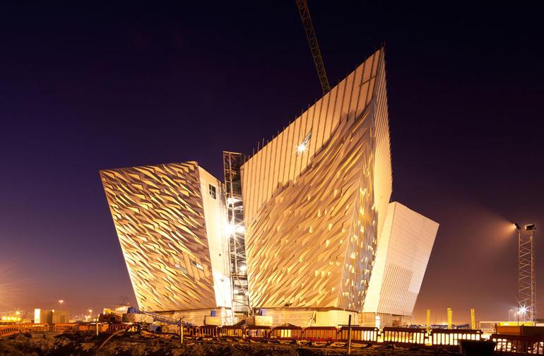 1 Titanic Museum at Night - Dublin