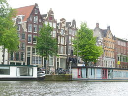 crooked houses on Amsterdam canal , Michael L - June 2012
