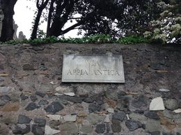 A photo of the road sign of the Appian Way. , Sharon M - May 2015