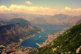 At the end of the Serpentine Road, over the mountain, beautiful and picturesque - Bay of Kotor , Mir M - June 2015