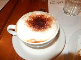 Cappuccino at the Cafe International , Nidale T - September 2013