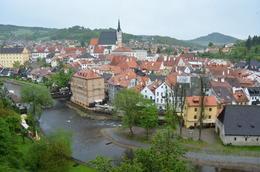 Vista panorâmica, a partir do Castelo de Cesky Krumlov , Horácio - May 2014