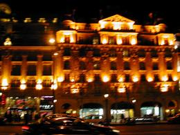 Looking at the Champs-Elysees. - January 2008
