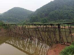Bridge along countryside trek outside Chengdu , Julia K - September 2014