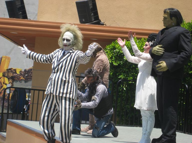 dancing horror characters - Anaheim & Buena Park