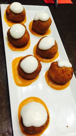 One of the delicious samples during our Tapas evening walking tour of Barcelona , Carol B - January 2016