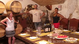 Here we are after driving the Chianti Valley in our lovely Fiat500 vintage cars about to have lunch and taste the FABOLOUS wine. In the photo are members of our tour, including our fantastic tour..., ANTHONY S - October 2014