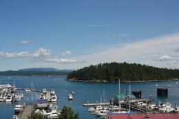 View from Friday Harbor of the bay and other islands , Leah - May 2011
