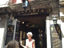 Giovanna explaining the next place we are visiting. , Susan D - June 2016