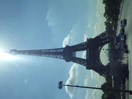 Driving passed the Eiffel Tower in all its glory , Travelplanner - October 2011