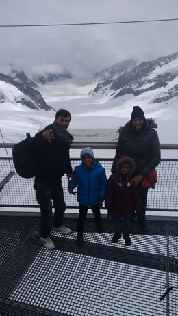 Dadhich Family from India, Feeling Amazing at top of Europe : , Kamal P - July 2016