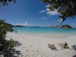 Wide angle shot of the beach. It was fairly deserted that day, as water was rough at least for a St John's beach. The beach is open from 8:30am to 4:30pm. , Brian E - October 2015