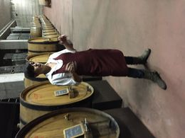 Getting a tour before our tasting! , Suzy H - October 2015
