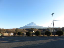 View of Mt Fuji on the way to the cave , AmbaE - December 2017