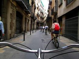 Biking in the Gothic Quarter , Allison N - September 2012