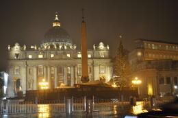 Vatican City during the Night Tour. , Juliana - December 2010