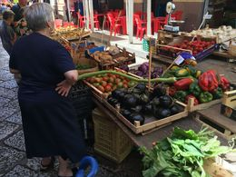 Photo of one vendor at market. There were probably eight streets of vendors offering more vegetables and fruits and fish then I have ever seen. It was so cool! , Bryan T - July 2016