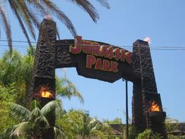 entrance to jurassic park ride - really scary, Clare B - July 2010