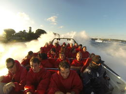 Jet boat on the Sydney Harbour - April 2013