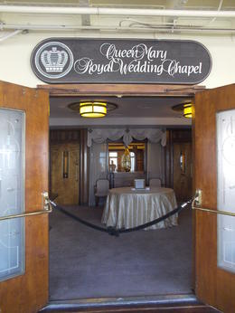 The wedding chapel aboard the Queen Mary, Krystal W - May 2014